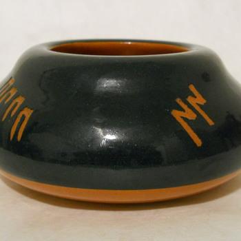Five Symbol Blue Bowl