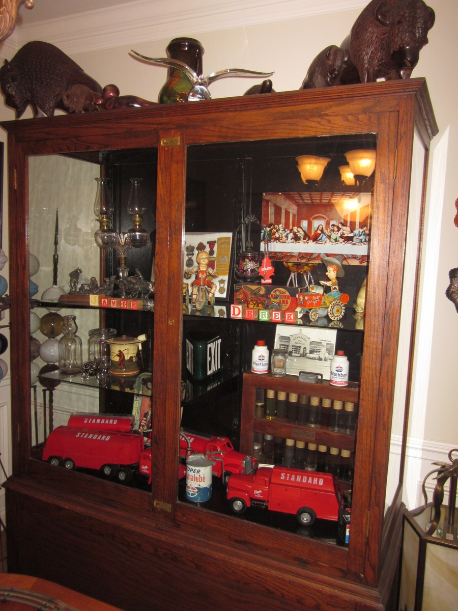 Large Antique Display Trophy Cabinet Out Of Old School | Collectors Weekly