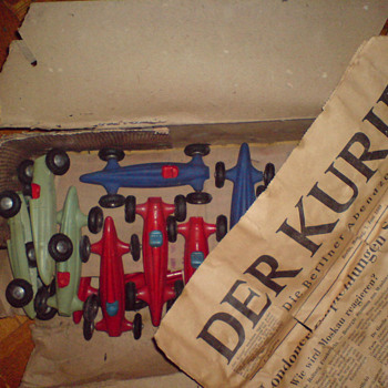 Rare 1940s old stock Auto-Union racing car models - Model Cars