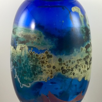 Kent Forrest Ipsen art glass vase, Christmas 1972