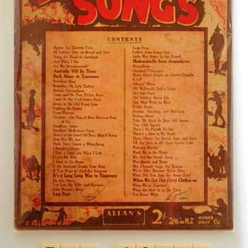 An Album of digger songs [music] : Songs the diggers sang.