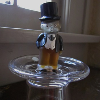 Boy in Tophat Vintage Perfume Bottle - Probably UK Origin - Bottles