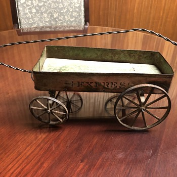 Small toy iron wheeled Express Wagon - Toys
