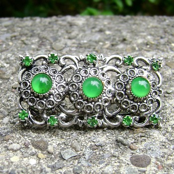 Vintage Czech Brooch - Costume Jewelry
