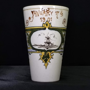 Holland Society of New York Cup Dated Jan 17th 1901 - Pottery
