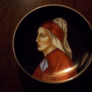 Decorative plate with Italian woman (Correction - Man!)