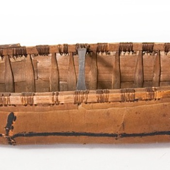birch bark canoe models, old and new - Native American