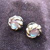 Off the cuff - some vintage glass cuff links including saphirets