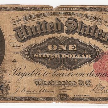 1891 Silver Certificate