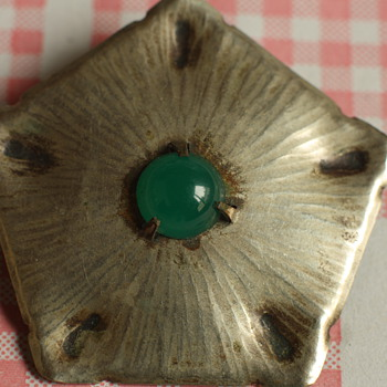 Stunning Amsterdam School brooch - Costume Jewelry