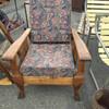clawfoot morris chair tiger oak