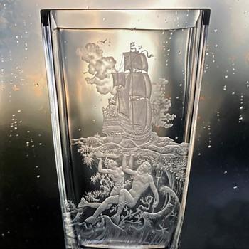 Orrefors Nils Landberg Expo, the Raising of the Vasa - Art Glass