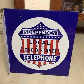 Red, White, Blue Independent Telephone Sign - Telephones