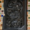 Carved Stone Dragon in a Frame - broken