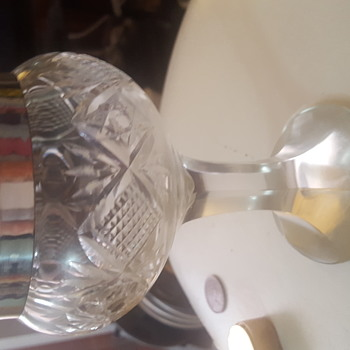 Our family silver rimmed Glass goblet mystery.