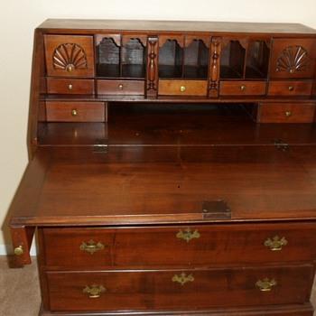 Antique Slant Front Desk - Furniture