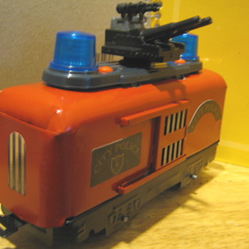 Vintage Marx custom Con-Rail transport car with lights and sound!