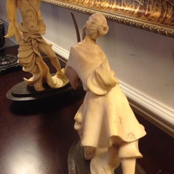 Pair of samurai figurines - Asian