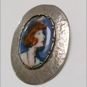 Arts & Crafts enamelled and Sterling Silver brooch/pendant damaged - Arts and Crafts