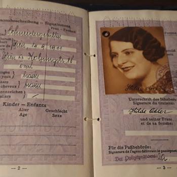 Circa 1936-40 Austrian Passport of Shoah Victim - Paper