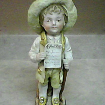 MY FIRST LETTER 4702  BISQUE PORCELAIN FIGURINE - Pottery