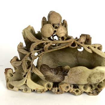 Stone carved planter - Asian