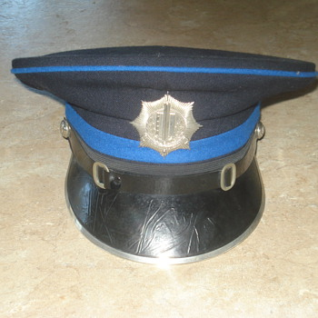 1960-80s Dutch police cap. Voorburgse Gemeente-rijks politie - Hats