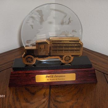 36 year service award - Coca-Cola