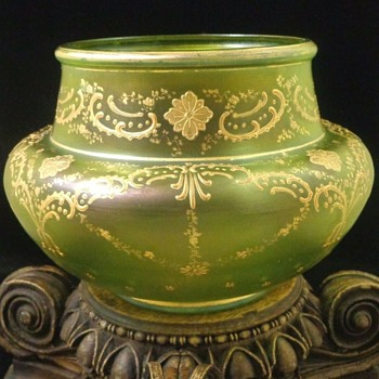 Loetz DEK I/439 Art Nouveau Glass Bowl - Art Glass