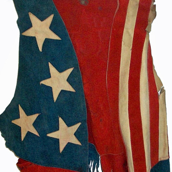 #3 ~ 1969 Woodstock Worn Suede Stars & Stripes Vest + #4 - Womens Clothing