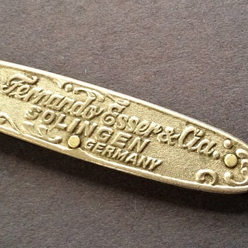 Antique Solingen knife with tool engravings