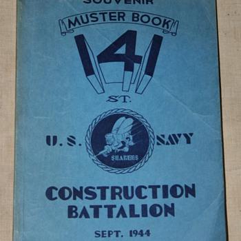 1944 Muster Book Seabees 141st Const. Batt. - Books