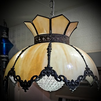 My favorite Tiffany era victorian designed slag lamp - Lamps