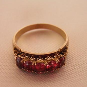 18K Garnet Ring - Fine Jewelry