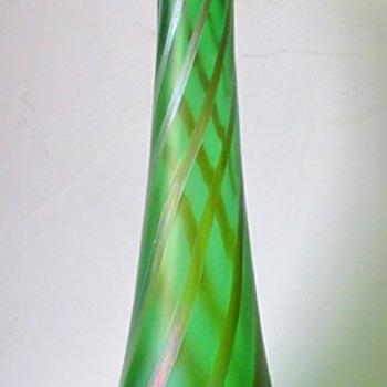 Rindskopf Silver Swirl, green. - Art Glass
