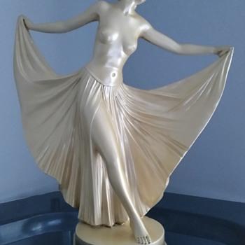 Topless Dancing Figurine - Art Deco