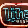 my (Miller) LITE BEER neon sign