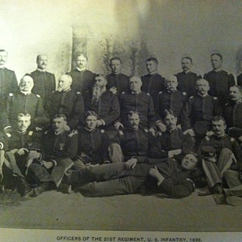 Officers of the 21st regiment U.S infantry  - Military and Wartime