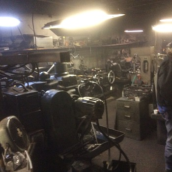 New Years Day gathering at Chand Bleils machine shop - Tools and Hardware