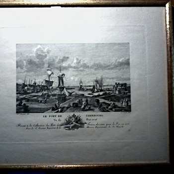 "Engraving  by Nicolas-Marie Ozanne ""Le Port De Cherbourg"" #37/ Engraved by G. Canali / Circa 1930 ?"