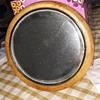 antique 5 1/4 inch beveled mirror