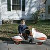 Antique Rocket pedal car tricycle