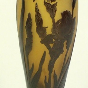 Zbyn?ek Voto?ek's Cameo vase, signed. - Art Glass