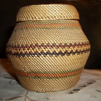 Native American Nootka Woven Basket.  - Native American