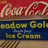 Meadow Gold smooth-freeze Ice Cream light up counter sign, 1950s