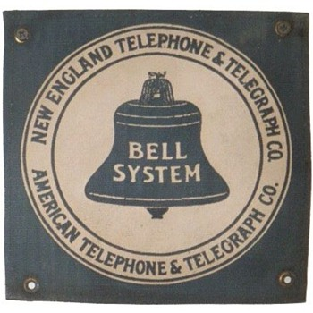 New England Telephone & Telegraph Co. Cloth - Signs
