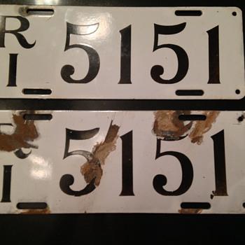 Pair of 1912 Rhode Island License Plates