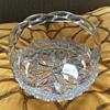 vintage crystal basket