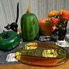 Blenko pumpkins Goebel cats