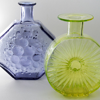 stella polaris bottle & aurinkopullo sun bottle - Art Glass
